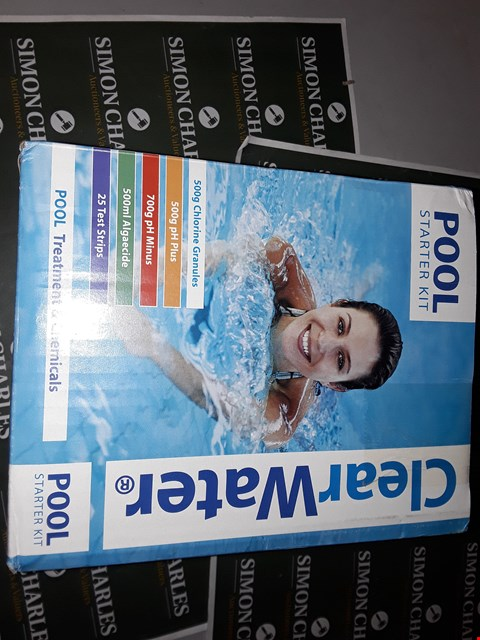 Lot 7535 BRAND NEW CLEAR WATER POOL STARTER KIT RRP £37.00