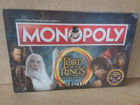 Lot 58 BRAND NEW BOXED LORD OF THE RINGS TRILOGY EDITION MONOPOLY PROPERTY TRADING GAME.