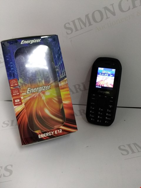 Lot 18346 ENERGIZER ENERGY E12 MOBILE PHONE IN BLACK