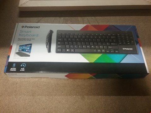 Lot 12808 BOX OF OF 2 BRAND NEW POLAROID SMART KEYBOARDS