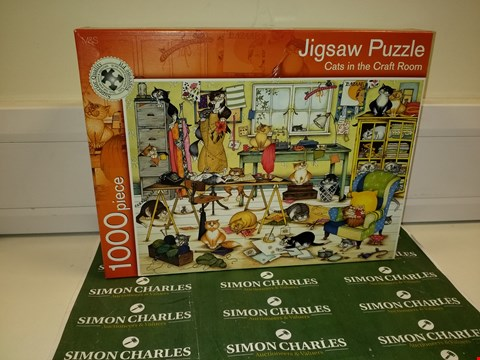 Lot 1417 CATS IN THE CRAFT ROOMS 1000 PIECE JIGSAW PUZZLE