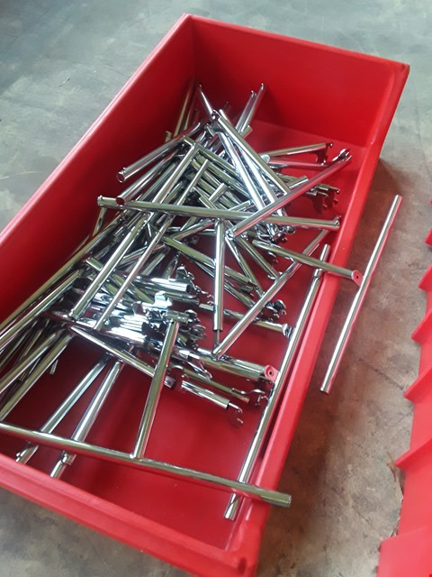 Lot 2037 BOX OF METAL RAILING FITTINGS