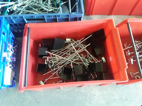 Lot 2044 BOX OF METAL RAILING FITTINGS AND PLASTIC FEET