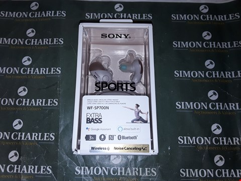 Lot 2040 SONY WF-SP700N TRULY WIRELESS SPORTS HEADPHONES WITH NOISE CANCELLING AND IPX4 SPLASH PROOF - PINK RRP £139.00