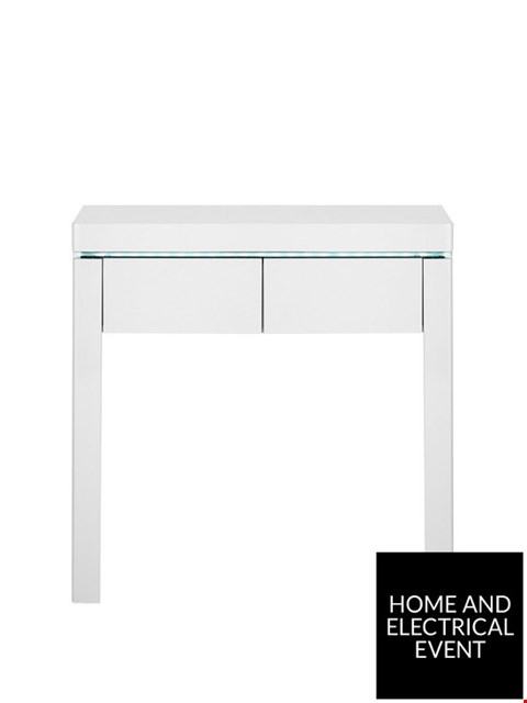 Lot 4389 BRAND NEW BOXED ATLANTIC BLACK CONSOLE TABLE RRP £129.00