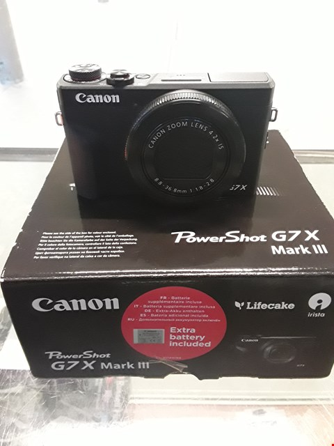 Lot 11 CANON POWERSHOT G7X MARK III COMPACT DIGITAL CAMERA  RRP £949.99