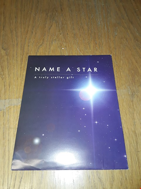Lot 7210 NAME A STAR GIFT  RRP £20