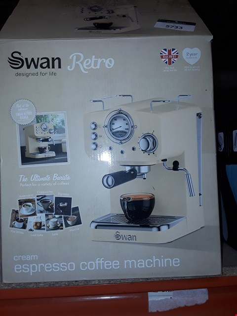 Lot 5406 SWAN RETRO ESPRESSO MACHINE