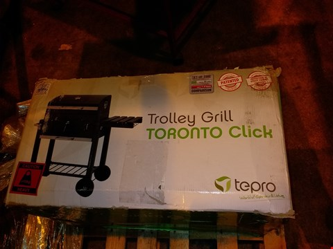 Lot 6889 TEPRO TORONTO CLICK MODEL 2019 BARBECUE TROLLEY ANTHRACITE/STAINLESS STEEL