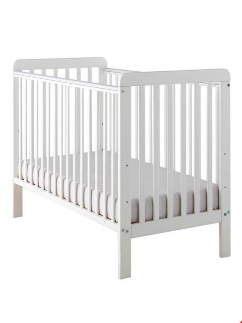 Lot 2061 BOXED GRADE 1 LITTLE ACORNS WHITE CLASSIC COT BED (1 BOX) RRP £129.99