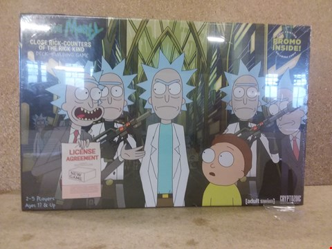Lot 434 A BRAND NEW BOXED RICK AND MORTY CLOSE RICK-COUNTERS OF THE RICK KIND DECK-BUILDING GAME