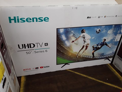 "Lot 1057 HISENSE 50"", ULTRA HD 4K, HDR, SMART TELEVISION MODEL H50A6200UK RRP £479.99"