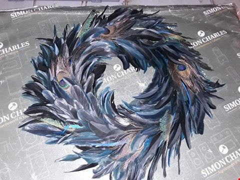 Lot 1220 PEACOCK FEATHER WREATH