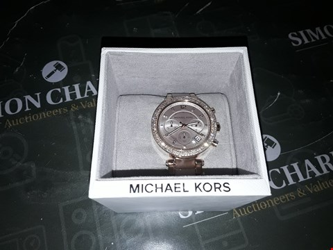 Lot 2011 MICHAEL KORS PARKER ROSE GOLD STAINLESS WRISTWATCH  RRP £399.00