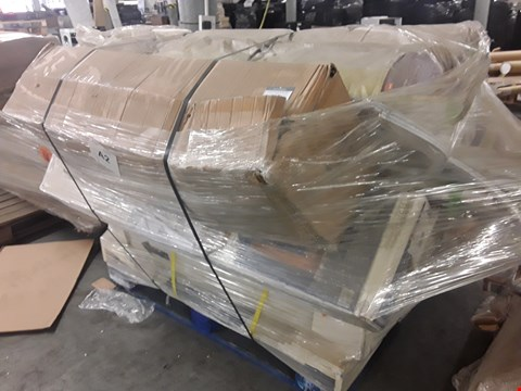 Lot 33 PALLET OF ASSORTED FURNITURE ITEMS, INCLUDING, FIRE SURROUNDS, PVCU WINDOW/DOOR SILLS, CHRISTMAS TREE,