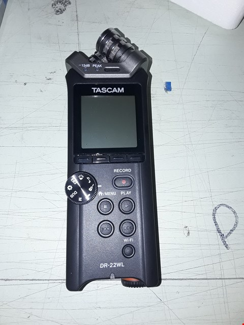 Lot 7263 TASCAM DR-22WL LINEARCPCM RECORDER WITH WIFI