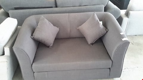 Lot 19 DESIGNER DARK GREY SMALL 2 SEATER SOFA