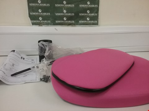 Lot 6013 GAS LIFT OFFICE CHAIR PINK (1 BOX)  RRP £35.00