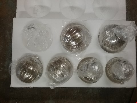 Lot 11018 GRACE IRREDESCANT GLASS GLOBE 6 LIGHT- GRADE 1 RRP £124.99