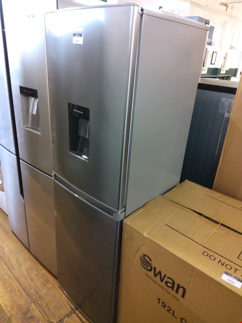 Lot 7036 SWAN SILVER FRIDGE FREEZER WITH WATER DISPENSER  RRP £379.99