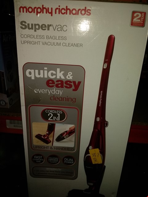 Lot 2368 MORPHY RICHARDS 732005 2-IN-1 SUPERVAC CORDLESS VACUUM CLEANER