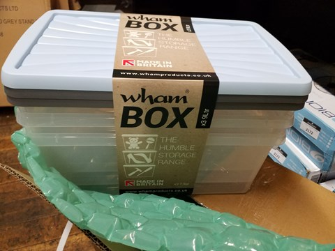 Lot 3151 BRAND NEW WHAM BOX THE HUMBLE STORAGE RANGE: SET OF X3 9LTR PLASTIC STORAGE BOXES RRP £55.00