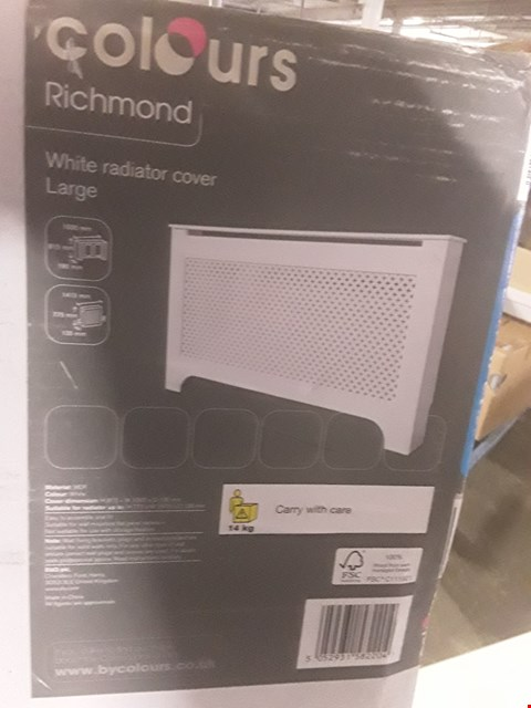 Lot 1156 BOXED COLOURS RICHMOND WHITE RADIATOR COVER LARGE