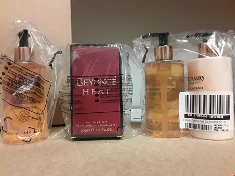 Lot 2187 LOT OF ASSORTED COSMETICS TO INCLUDE SANCTUARYS PAMPER ME HAND DUO, BEYONCE HEAT 50ML EDP RRP £65.48