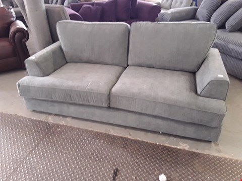 Lot 355 DESIGNER CHARCOAL FABRIC 3 SEATER SOFA