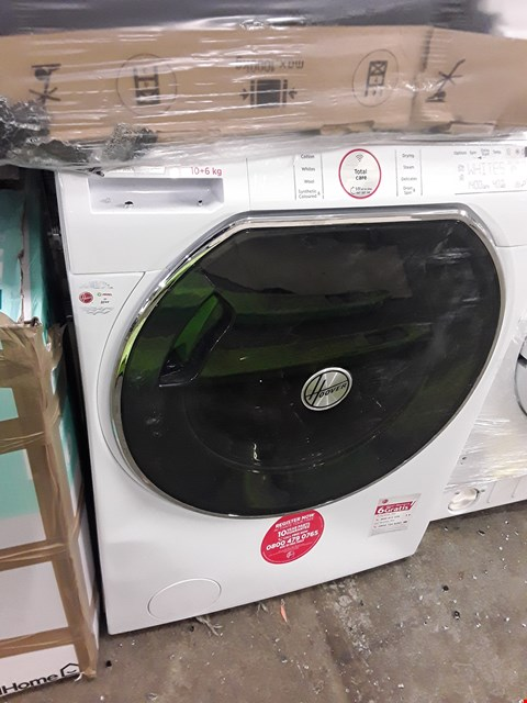 Lot 400 HOOVER AWDPD6106LH/1-80 WHITE FREESTANDING CONDENSER WASHER DRYER, 10KG/6KG