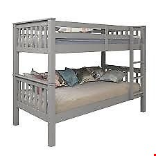 Lot 2091 BOXED GRADE 1 NOVARA GREY BUNK BED FRAME (2 BOXES) RRP £199.99