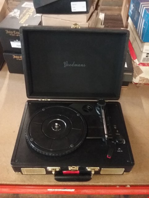 Lot 1310 EALING PORTABLE TURNTABLE - BLACK RRP £49