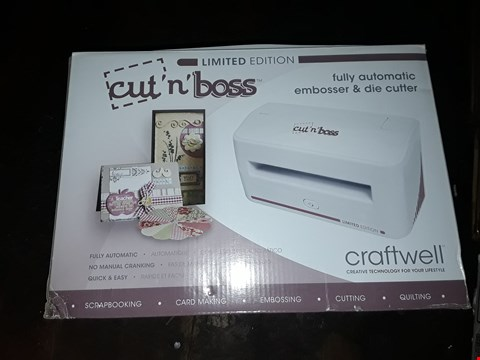 Lot 3500 BOXED LIMITED EDITION CRAFTWELL CUT 'N' BOSS ALL-IN-ONE EMBOSSER AND DIE CUTTER