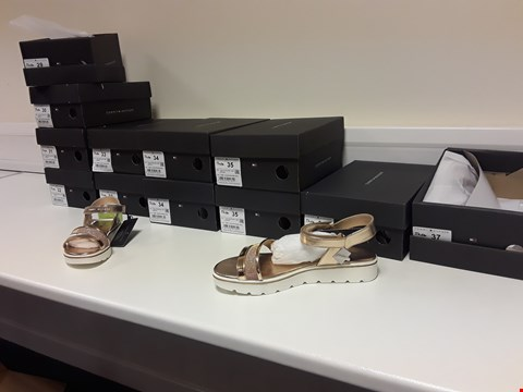 Lot 3369 BOX OF 12 PAIRS TOMMY HILFIGER NUDE/POWDER PINK SANDALS, SIZES 29-37