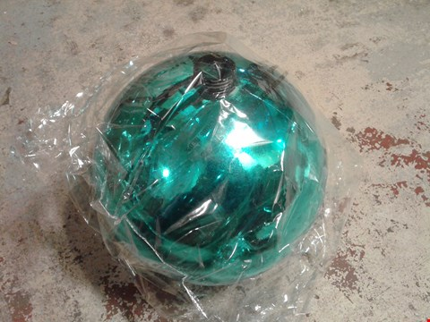 Lot 458 GIANT GREEN CHRISTMAS BAUBLE DECORATION