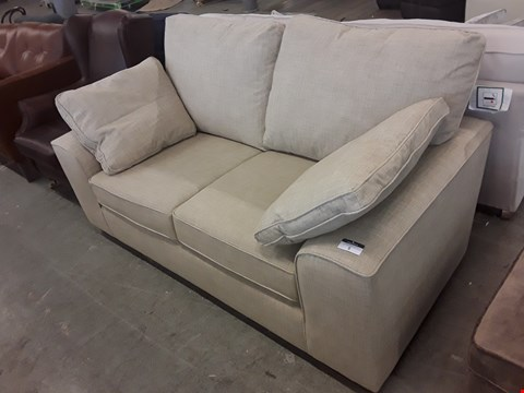 Lot 5 QUALITY BRITISH DESIGNER NATURAL FABRIC NANTUCKET 2 SEATER SOFA