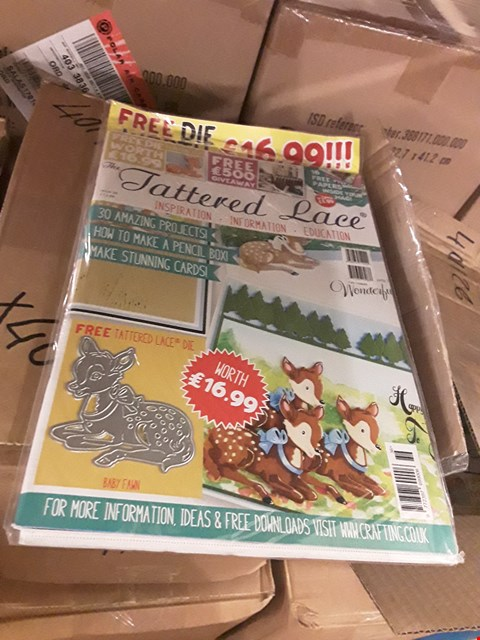 Lot 4168 211 BRAND NEW TATTERED LACE MAGAZINES VOLUME 36  (6 BOXES)