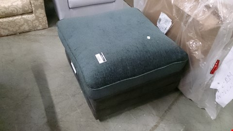 Lot 1219 DESIGNER GREY SUEDE AND FABRIC FOOTSTOOL