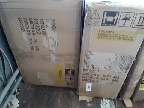Lot 7029 TWO BOXED BED FRAME PARTS ( BOXES 2 & 3 OF 3 ONLY )