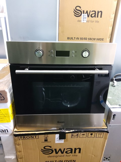 Lot 7028 BOXED SWAN STAINLESS STEEL BUILT IN OVEN SXB7070SS