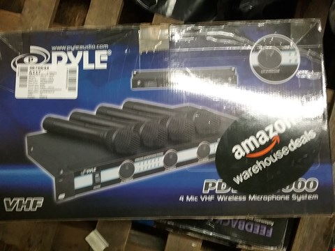 Lot 11 BOXED PYLE PDWM5000 4 MIC VHF WIRELESS MICROPHONE SYSTEM
