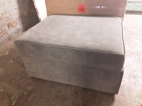 Lot 17007 DESIGNER GREY FABRIC FOOTSTOOL WITH FOLD OUT BED