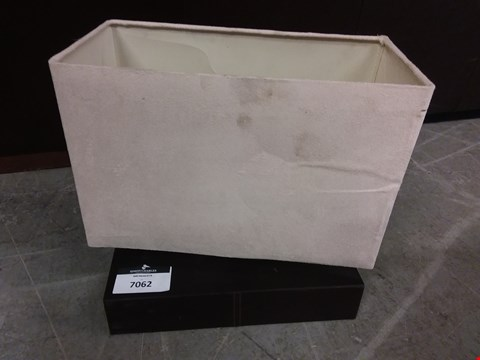 Lot 7062 FAUX LEATHER BLOCK STITCHED TABLE LAMP