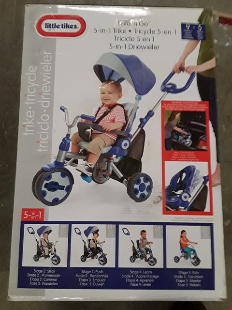 Lot 2068 LITTLE TIKES FOLD N GO DELUXE 4 IN 1 TRIKE  RRP £149.99