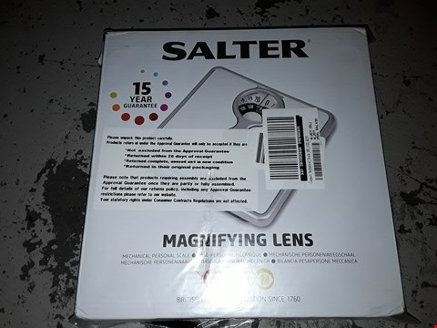 Lot 2269 SALTER WHITE MAGNIFYING LENS MECHANICAL SCALE RRP £17.99