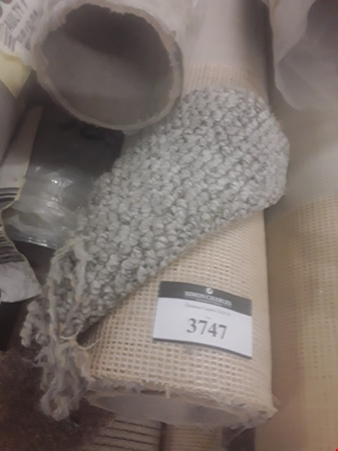 Lot 3747 ROLL OF MARRAKESH SILVER CABLE CARPET APPROXIMATELY 5X1.24M