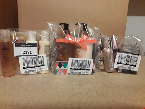 Lot 2181 LOT OF 3 ASSORTED COSMETICS TO INCLUDE SANCTUARYS MUST HAVE MINIS, MAYBELLINE NO MAKE UP MAKE UP KIT, SANCTUARYS PAMPER ME HAND DUO SET RRP £70.38