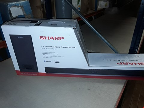 Lot 3510 BOXED SHARP 2.1 SOUNDBAR HOME THEATRE SYSTEM