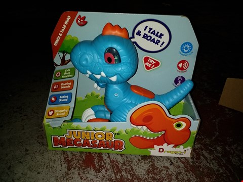 Lot 2391 JUNIOR MEGASAUR TOUCH AND TALK AND PERSONALISED UNICORN SNOW GLOBE RRP £31.00