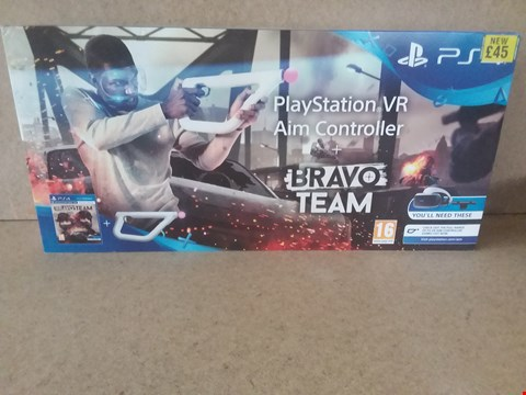 Lot 31 BRAND NEW BOXED PLAYSTATION VR AIM CONTROLLER + BRAVO TEAM FOR PS4